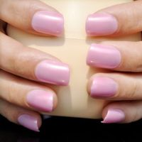 EchiQ Lovely Candy Color Flat Fake Nail Light Pink Finger Full Lady Nail Tips