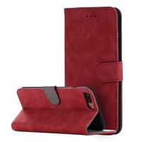 For iPhone 6 6s Plus 7 7 Plus Vintage Magnetic PU Leather Wallet Case Flip Stand Cover Mobile Phone Bag With Card Slot Brown