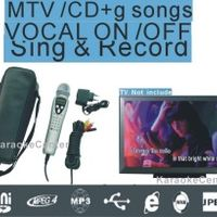 Korean Machine MTV/CDG Portable system player Miagic Karaoke Sing Micorphone 16GB