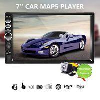 "KONNWEI Car Stereo Bluetooth HD 7"" Touch Screen 12V 2 Din FM Car Radio ISO Player"