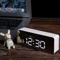 DECDEAL LED Display Desktop Digital Table Mirror Clock