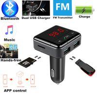 KKMOON FM Transmitter Aux Modulator Bluetooth Handsfree Car Kit Audio MP3 Player
