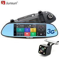 "Junsun 3G 7"" Car DVR Mirror Camera Android 5.0 wifi GPS Full HD 1080P Video Recorder"