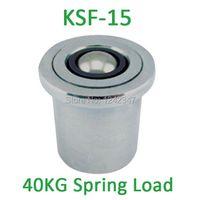 KSF-15 15mm base mounting carbon steel 50/60kgs ball bearing with 40kgf Spring Loading Capacity KSF15 Ball Transfer Units
