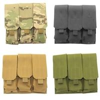 Tactical Molle Dual 2 Pistol 9MM Mag Magazine Pouch Velcr Close Holster fits AR15 M4