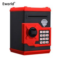 Eworld Piggy Bank Mini ATM Money Box Safety Electronic