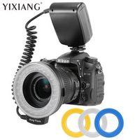 YIXIANG 48pcs RF-550 LED Macro Ring Flash Light for Canon Nikon Panasonic DSLR Camera