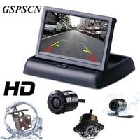 GSPSCN 2 in 1 Parking Assist 4.3 inch Folding Car in-Dash Monitor Video Player