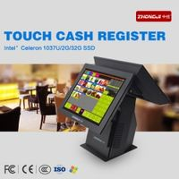 ZHONGJI Dual Screen Windows System Pos Computer with LED Touchscreen