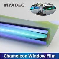 MYXDEC 50x300cm Window Chameleon Tint Film Glass VLT 75% Auto House Solar UV