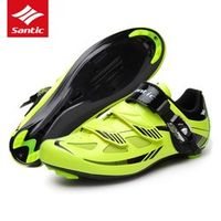 Santic Mens Cycling Shoes PU Mesh Breathable Road Bike Shoes Auto-lock Bicycle Sport