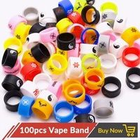 Volcanee 100pcs/lot Vape Band 12mm Protect Decoration Ring Silicon Rubber Vapeband for E Cigarettes RDA RDTA RTA Atomizer