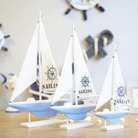 Mediterranean white model Sailing Nautical Home Decoration