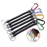 yumoshi 5pcs Lanyards Boating Retention String Rope with Camping Carabiner Secure