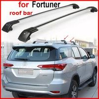 Woo roof rack/roof bar rail cross beam for Toyota Fortuner 2016 2017 thicken aluminum