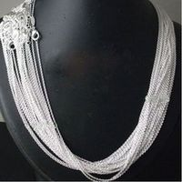 """wholesale Price 50pcs/lot 925 stamped Silver Plated 1mm Link Rolo Chains 16"""",18"""" ,20"""",22"""",24 inch,fashion women's Jewelry Chains"""