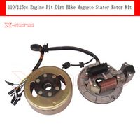 Magneto Stator Rotor Kit Without Light For Chinese110/125cc Engine Pit Dirt Bike Pitster Pro Stomp Thumpstar SDG GPX