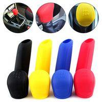 cacoonlisteo 2Pcs/Set Silicone Gear Shift Knob Handbrake Cover Hand Brake