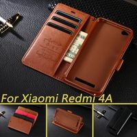 azns Case For Xiaomi Redmi Luxury Wallet PU Leather Stand Flip For Xiaomi Redmi 4A