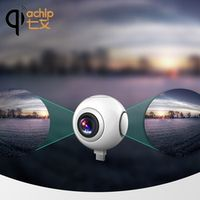 QIACHIP 720 Degree Panoramic HD 360 Video VR Cameras Dual Wide Angle Lens Real Time