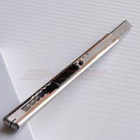 1Pcs Retractable Folding Utility Knife Razor Scraper 9mm Auto-lock Snap Off Blade 13cm stretch Stainless Steel Art Knife CN009