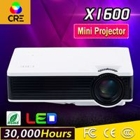 CRE Portable Mini LED 800x480 High bright 1000 Lumens Home Cinema Projector