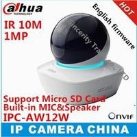 Original DAHUA English version IPC-AW12W HD 1MP Wifi Mini Network Camera IR10M Distance built-in MIC & SPK with SD Card slot