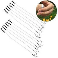 Toply 6Pcs Barbless Size 6 8 10 Carp Fishing Hook Hair Rigs Fishing Accessories