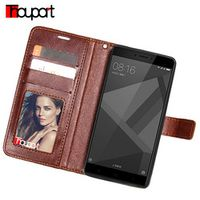 Thouport For Xiaomi Redmi Xiaomi Redmi Note Card Slot Cover Retro Flip Wallet 4X Pro