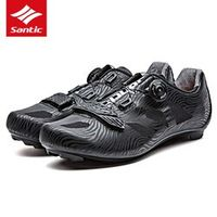 Santic Cycling Shoes Men Pro Road Bike Shoes TPU Breathable Athletic Self-locking