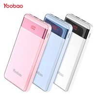 Yoobao Small Power Bank For Xiaomi Mi 10000 mAh LED Pover Portable External Battery