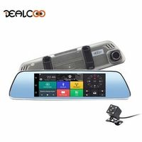 Dealcoo 3G Dash Cam 7' Android 5.0 Dual Lens Rearview Mirror Camera Registrator GPS