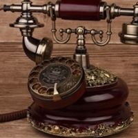 Fashion american style solid wood telephone household fitted antique vintage fashion phone rotating Dial the number