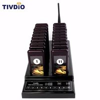 TIVDIO Wireless Pager Restaurant 20 Paging Queuing System Call Button Pager 999 Channel Restaurant Equipment Coaster Pager F9402