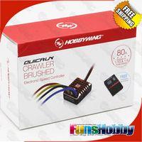 Hobbywing QuicRun 1:10 1/8 WP Crawler Brush Brushed 80A Electronic Speed Controller Waterproof ESC With Program box LED BEC XT60