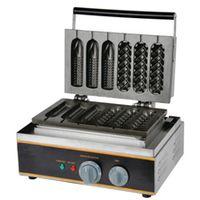 free shipping Electric 110v 220v mixed mould lolly hot dog waffle machine corn shape