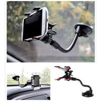 Long Arm Windshield Dashboard Cell Phone Car Holder Navigation Vehicle Clamp Mount