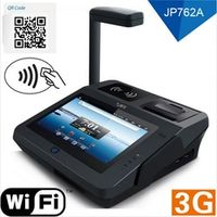 2016 New JP762A Wireless big screen 4G memory Android POS system with barcode laser Scanner WLAN Dual Core Android POS terminal