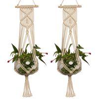 waasoscon 1pcs Large-sized Jute Plant Pot Holder Hanging