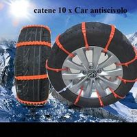 10Pcs Auto Car Winter Anti-Skid Safety Tyres Wheels Snow Chains Belt Set