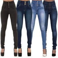 YHKGG Denim Pencil Pants Top Stretch Women High Waist Jeans