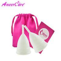 Aneercare 2pcs Menstrual cup for women Feminine hygiene vaginal period copa menstrual