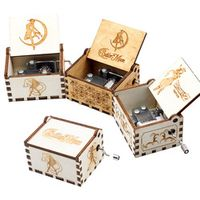 AIBOULLY Sailor Moon Wood Music Box Zelda Castle In Sky