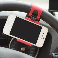MOONBIFFY Car Phone Holder for Auto Steering Wheel Mount Holder Clip Buckle Socket