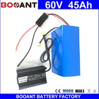 BOOANT 60V 45AH Electric Bicycle Li-ion Battery packs 18650 For Bafang 2400W Motor