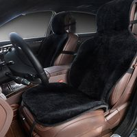 ROWNFUR car seat covers set black faux fur cute interior accessories cushion styling