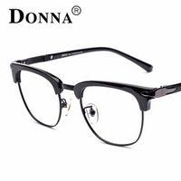 Donna TR90 Flexible Frame Man Glasses Optical Eyeglasses  Wood Half Frames for Men Women Reading Clear Lens