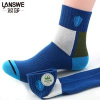 LANSWE 6pairs/lot 2017 New Men four seasons cotton soft socks character color patchwork man brand socks langsha
