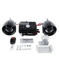 Hot Motorcycle Handlebar Bar Audio FM Radio System Amplifier Sound Speaker MP3 Black Skull Anti-theft