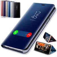 Vghoqget Smart Mirror Flip Case For Samsung Galaxy S8 S9 Plus S7 Edge S6 Note 9 8